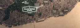 Black Pepper and Basil - Contacts Map