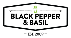 Black Pepper and Basil Logo